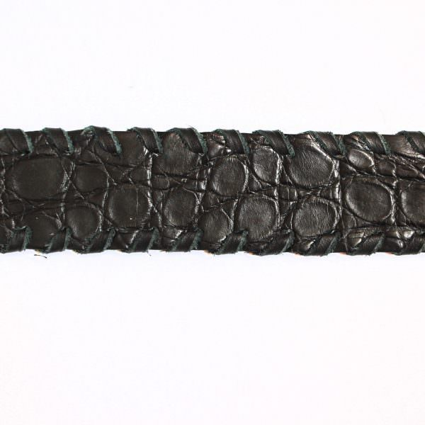 Lost Art Alligator Ring Belt black SWATCH