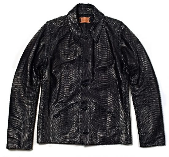 Lost Ar Custom Leather Jacket made from Python skin