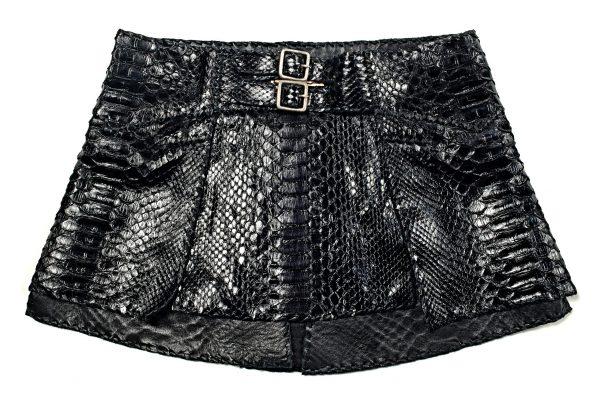 Lost Art Python Skin Skirt
