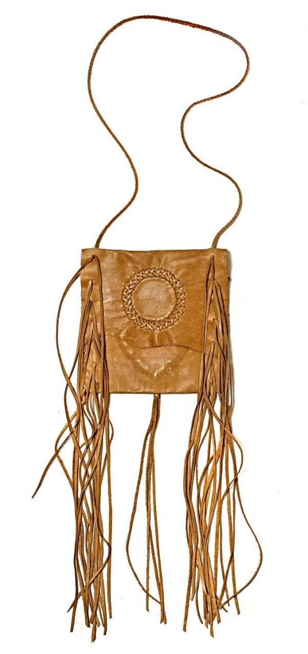 Lost Art Fringe Bag with Tan NuBuck Leather